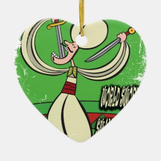World Sword Swallower's Day - Appreciation Day Ceramic Ornament