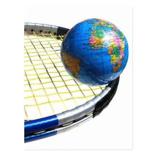World Tennis Postcard