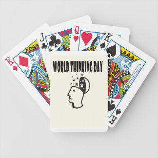 World Thinking Day - Appreciation Day Bicycle Playing Cards