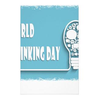World Thinking Day - Appreciation Day Customized Stationery