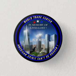 World Trade Center 3 Cm Round Badge