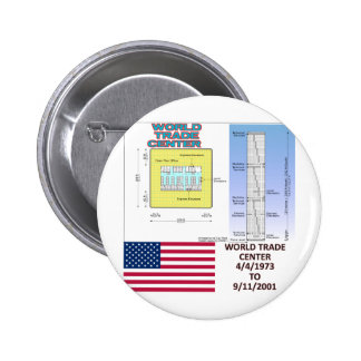 World Trade Center Floor Plans 6 Cm Round Badge