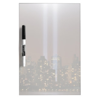 World trade center tribute in light in New York. Dry Erase Whiteboard