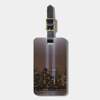 World trade center tribute in light in New York. Luggage Tag