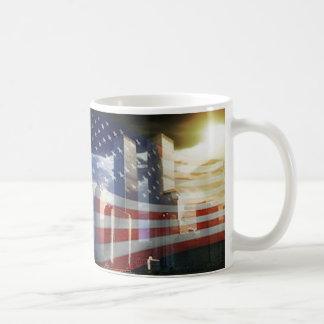 World Trade Center with Flag Mug