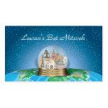 World Travel Snow Globe Bar Bat Mitzvah Placecard