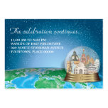 World Travel Snow Globe Bar Bat Mitzvah Reception Pack Of Chubby Business Cards