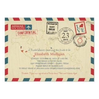 World Traveler Airmail   TEXAS Bridal Shower Card