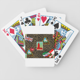 world traveler bicycle playing cards