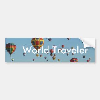 World Traveler Bumper Sticker