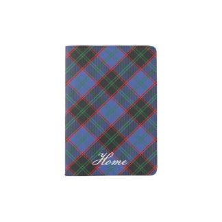 World Traveler Clan Home Tartan Plaid Passport Holder