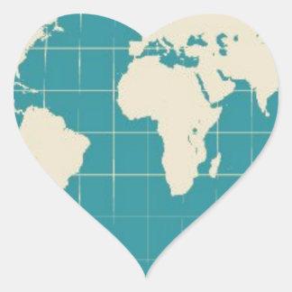 World Traveler Heart Sticker