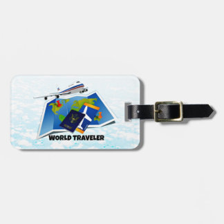 World Traveler - Map, Passport, and Tickets Luggage Tag