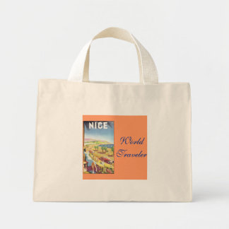 World Traveler Mini Tote Bag