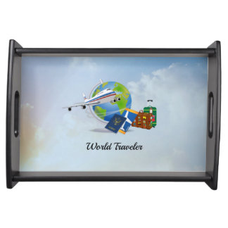 World Traveler, packed and ready to go Serving Tray