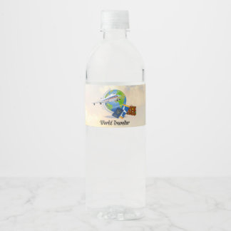 World Traveler, Packed and Ready to Go Water Bottle Label