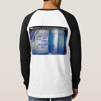 World Traveler Passport with Visas Entry Stamps T-Shirt
