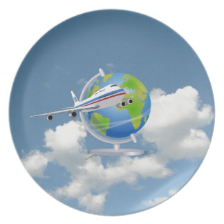 World Traveler Party Plates