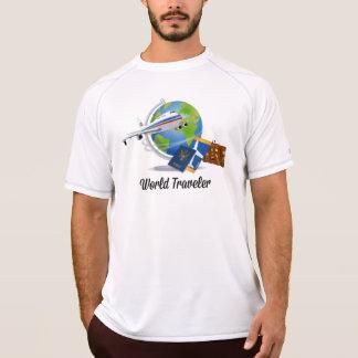 World Traveler. Suitcase, tickets and passport. T-Shirt