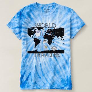 World Traveler Tie Dye shirt. T-Shirt