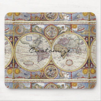 World Traveler Vintage Map Thunder_Cove Mouse Pad