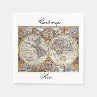 World Traveler Vintage Map Thunder_Cove Paper Napkin