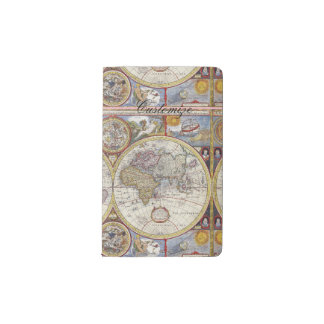 World Traveler Vintage Map Thunder_Cove Pocket Moleskine Notebook
