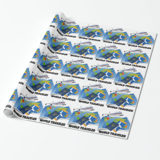 World Traveler Wrapping Paper
