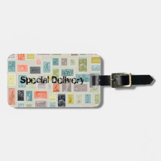WORLD TRAVELINTERNATIONAL STAMPS SPECIAL DELIVERY LUGGAGE TAG