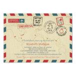 World Traveller Airmail   New York Bridal Shower 13 Cm X 18 Cm Invitation Card