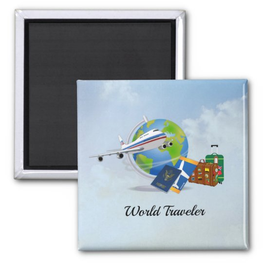 World Traveller, packed and ready to go Magnet
