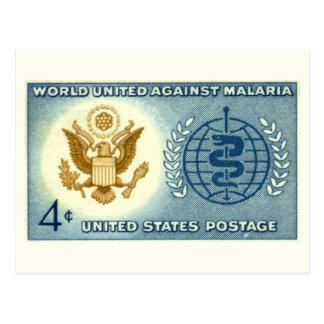 World United Against Malaria Vintage Postcard
