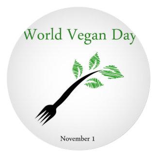 World vegan day 13 cm x 13 cm square invitation card