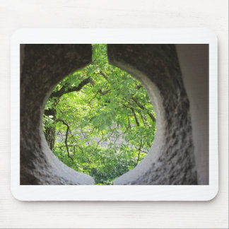 World view through hole mouse pad
