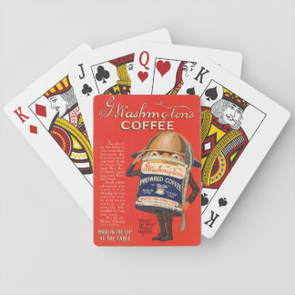 World War 1 Era G Washington Coffee Ad Playing Cards