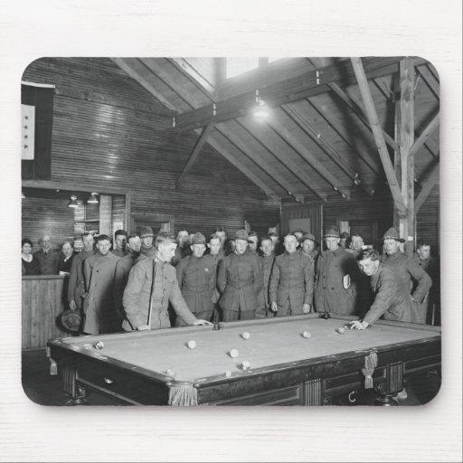 World War 1 YMCA Pool Hall, 1910s Mousepads