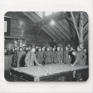 World War 1 YMCA Pool Hall 1910s Mousepads