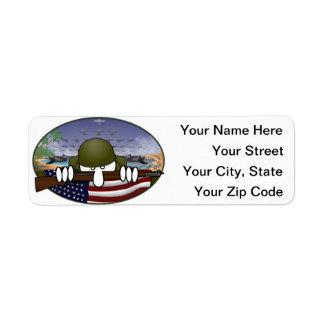 World War 2 Kilroy Address Label