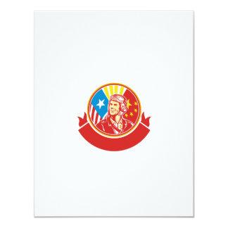 World War 2 Pilot USA China Flag Circle Retro 11 Cm X 14 Cm Invitation Card