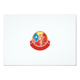 World War 2 Pilot USA China Flag Circle Retro 9 Cm X 13 Cm Invitation Card