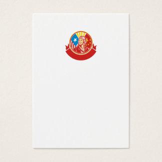 World War 2 Pilot USA China Flag Circle Retro Business Card