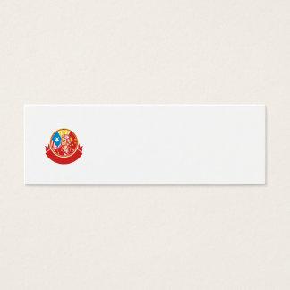 World War 2 Pilot USA China Flag Circle Retro Mini Business Card