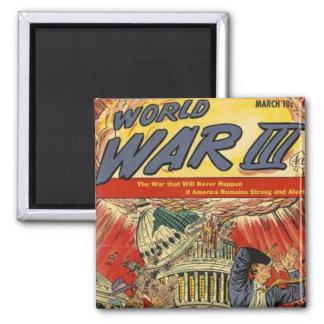World War 3 Vintage comic book Magnet