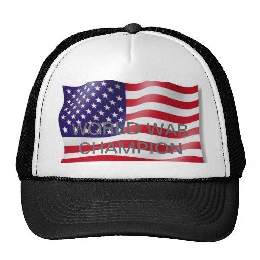World war champion trucker hats