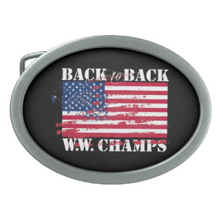 World War Champions Oval Belt Buckle