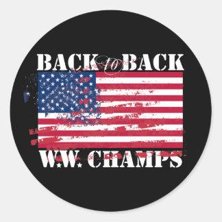 World War Champions Round Sticker