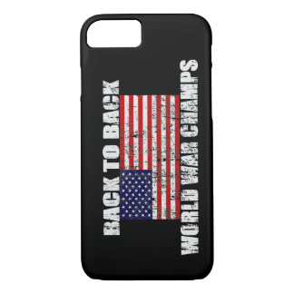 World War Champs Distressed US Flag iPhone 7 case