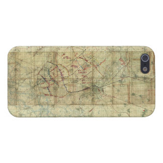 World War I Battle of the Canal du Nord Battle Map iPhone 5 Cases