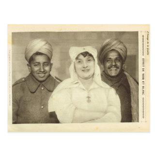 World War I,  France, Working together Postcard