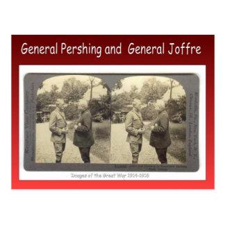 World War I, General Pershing and General Joffre Postcard